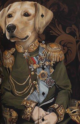 Хлопковая рубашка с принтом Dolce & Gabbana коричневая | Фото №5