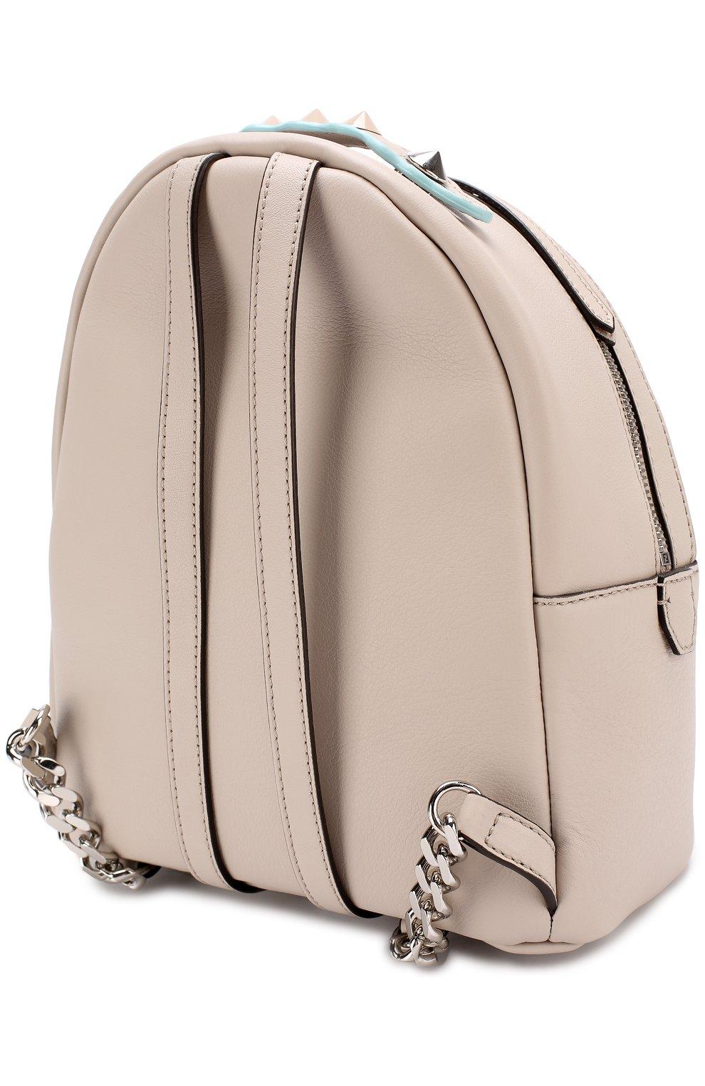 Кожаный рюкзак с цветочной аппликацией | Фото №3