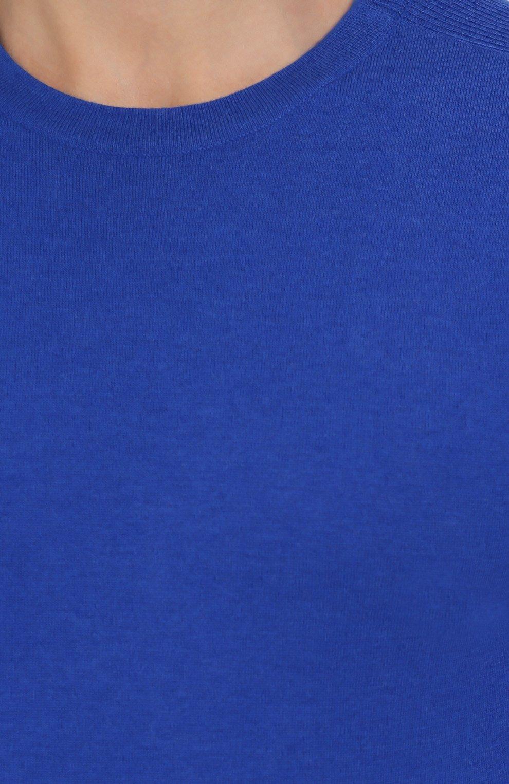 Джемпер тонкой вязки из смеси шерсти и хлопка | Фото №5