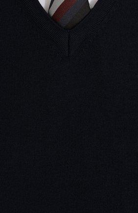 Шерстяной однотонный пуловер | Фото №5