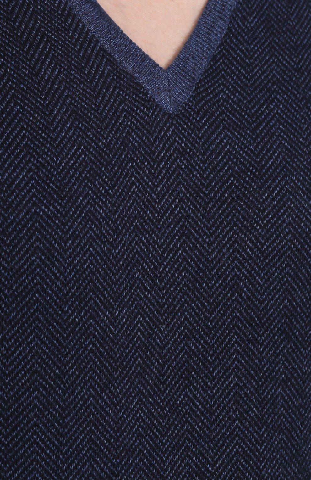 Шерстяной пуловер с V-образным вырезом | Фото №5
