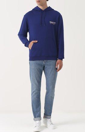 Толстовка с капюшоном и логотипом бренда | Фото №2