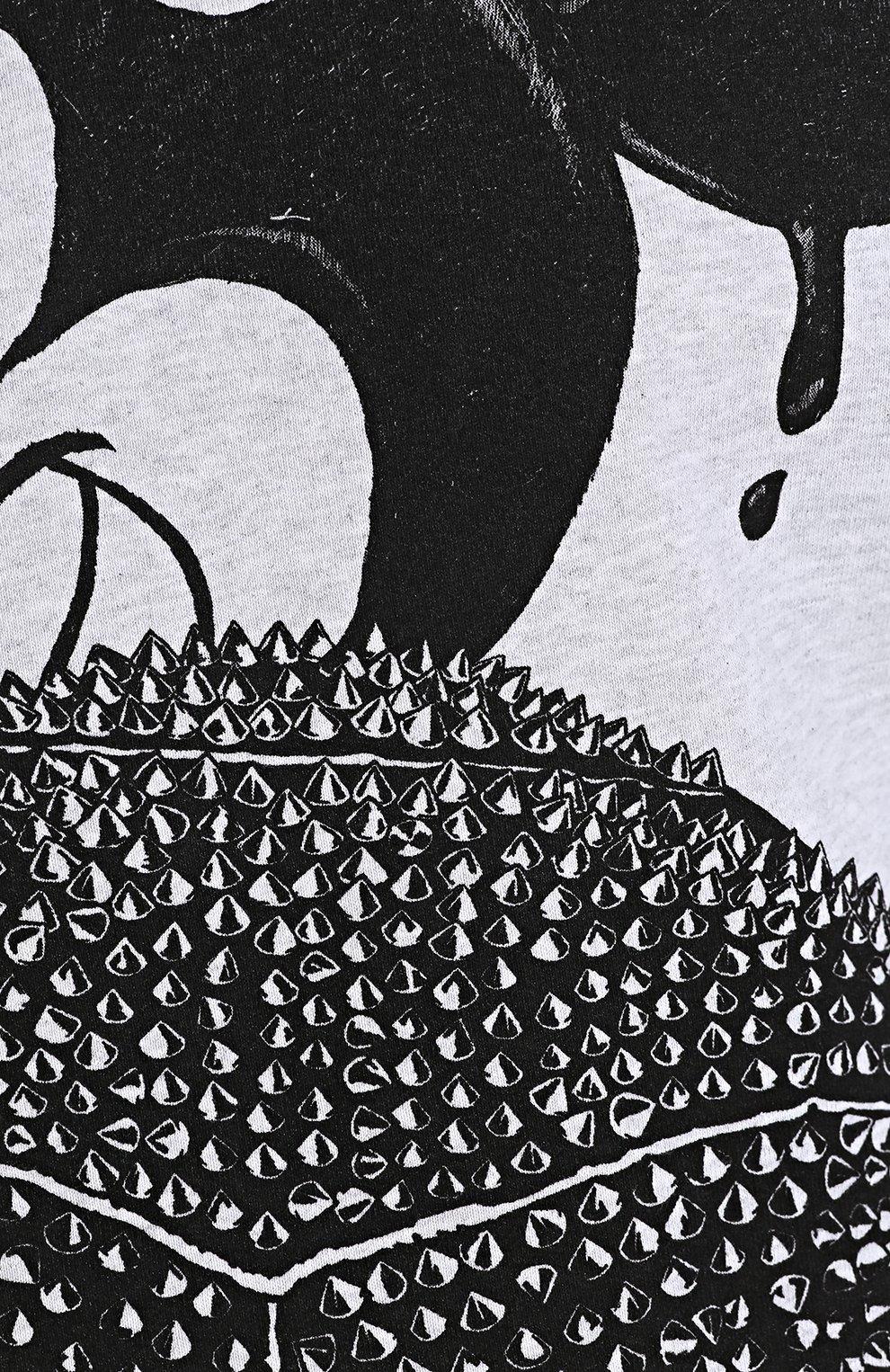 Хлопковый свитшот с принтом | Фото №5