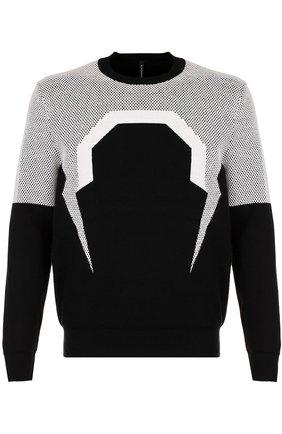 Джемпер из смеси шерсти и хлопка BLACKBARRETT черный | Фото №1