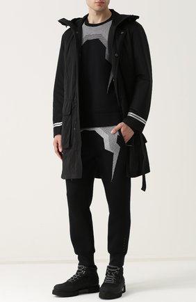 Джемпер с круглым вырезом BLACKBARRETT черный | Фото №1