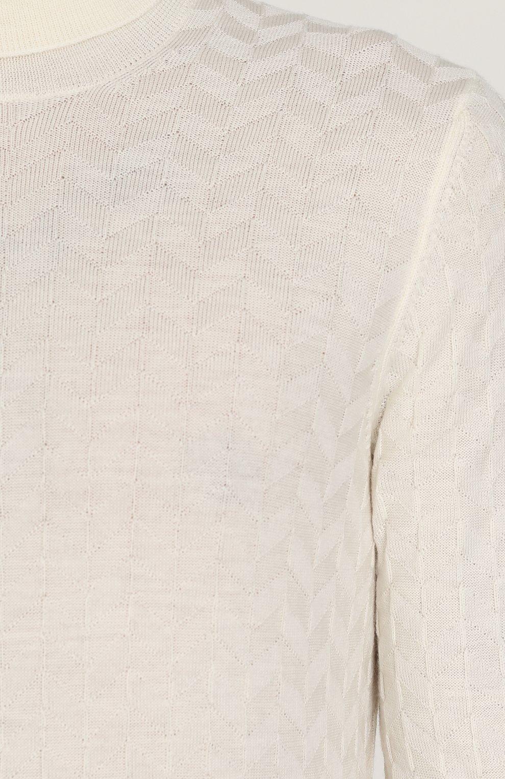 Шерстяная водолазка фактурной вязки | Фото №5