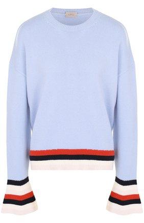 Шерстяной пуловер свободного кроя   Фото №1