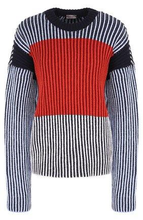 Пуловер свободного кроя с круглым вырезом   Фото №1