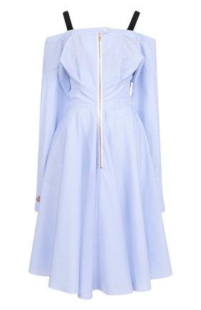 Приталенное хлопковое платье в полоску | Фото №1