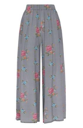 Укороченные шелковые брюки с эластичным поясом | Фото №1