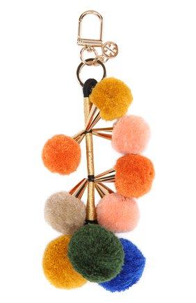 Брелок для ключей с помпонами Tory Burch розовый | Фото №1