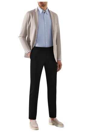 Мужские хлопковые брюки POLO RALPH LAUREN черного цвета, арт. 710644988 | Фото 2