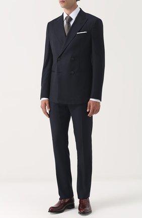 Мужской шерстяной костюм с двубортным пиджаком GIORGIO ARMANI синего цвета, арт. ZSV04A/ZS117 | Фото 1