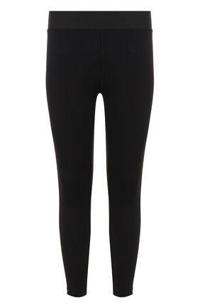 Зауженные брюки с контрастной отделкой BLACKBARRETT черные | Фото №1