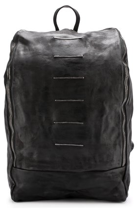 Кожаный рюкзак на молнии