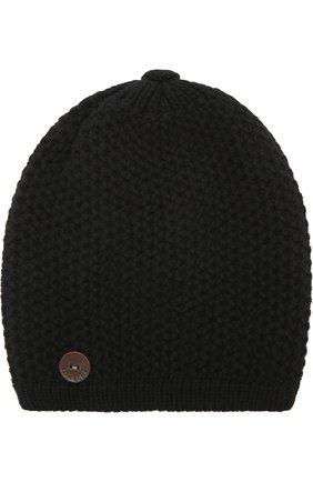 Вязаная шапка из кашемира Inverni черного цвета   Фото №1