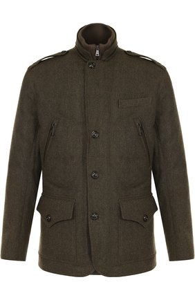 Шерстяная куртка на пуговицах с пуховой подстежкой | Фото №1