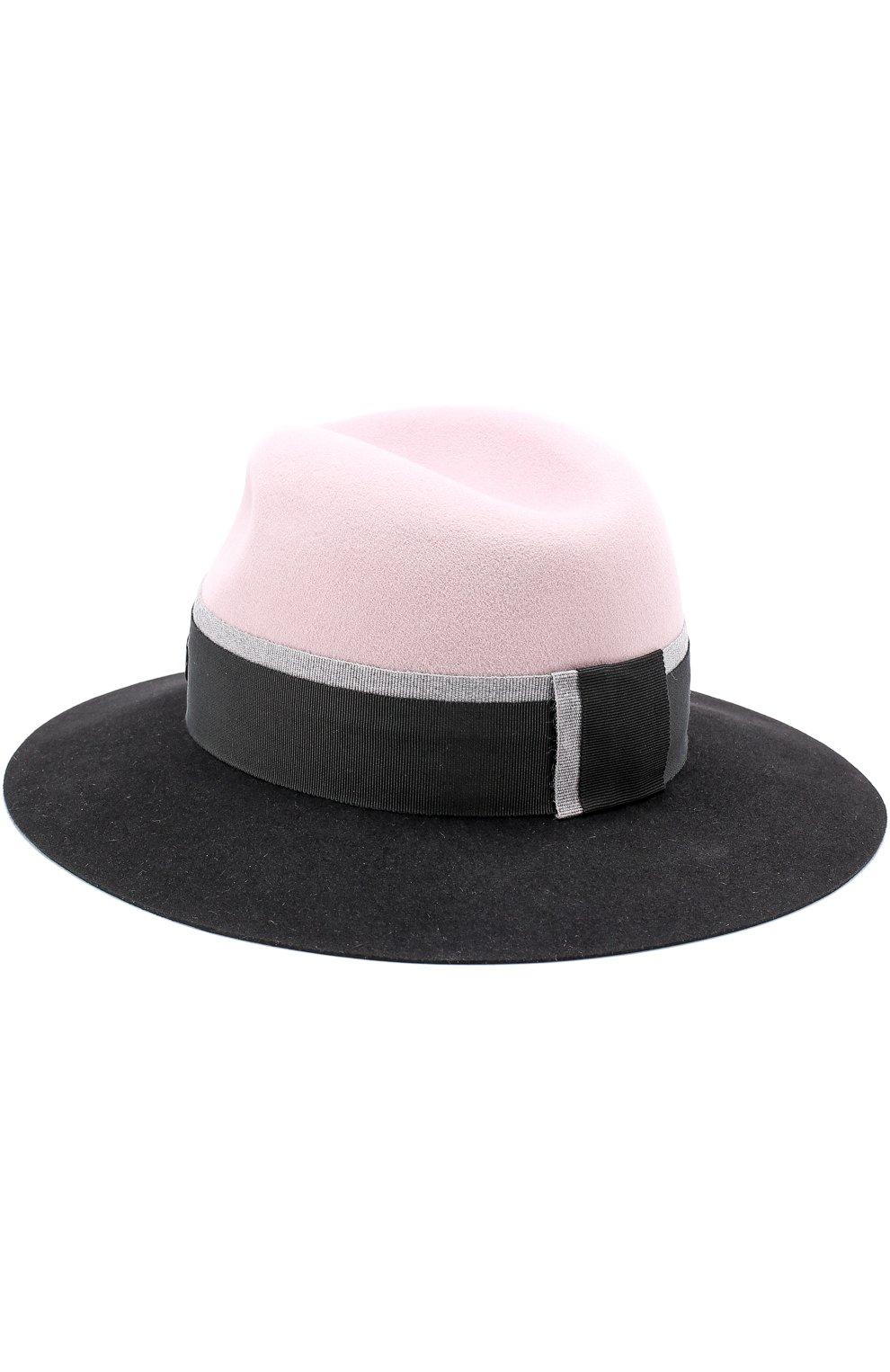 Фетровая шляпа Henrietta с лентой Maison Michel розового цвета | Фото №2