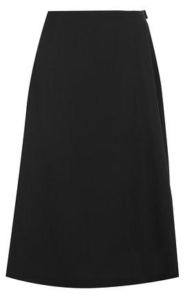 Шерстяная юбка-миди с защипами | Фото №1