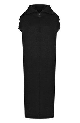 Платье свободного кроя с удлиненной спинкой | Фото №1