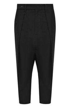 Укороченные брюки с защипами и карманами | Фото №1