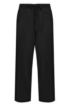 Шерстяные брюки прямого кроя с эластичным поясом | Фото №1