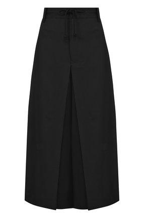Укороченные шерстяные брюки с защипами | Фото №1