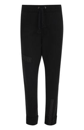 Хлопковые брюки с нашивками