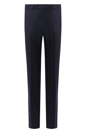 Мужские шерстяные брюки LUCIANO BARBERA темно-синего цвета, арт. 104014/45462 | Фото 1