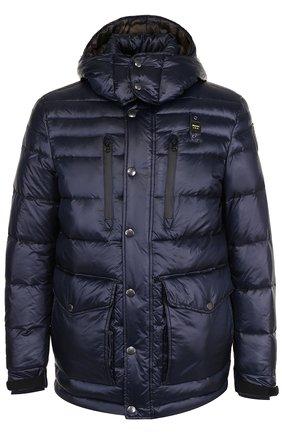 Пуховая стеганая куртка с капюшоном