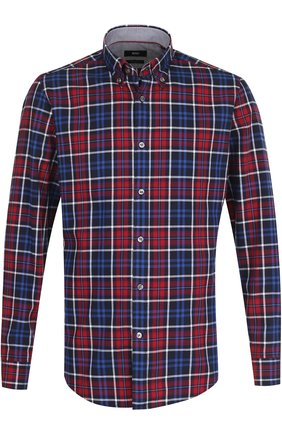 Хлопковая рубашка с воротником button down
