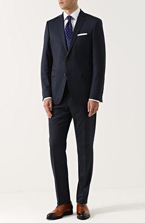Мужские кожаные оксфорды  KITON светло-коричневого цвета, арт. USSCAR0N00101 | Фото 2 (Статус проверки: Проверена категория; Застежка: Шнуровка; Наличие утеплителя: Нет; Стили: Классический)