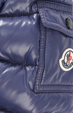 Пуховое пальто с контрастной отделкой и капюшоном | Фото №3