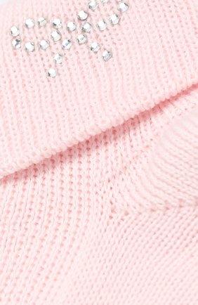 Детские хлопковые носки со стразами CATYA розового цвета, арт. 721539 | Фото 2
