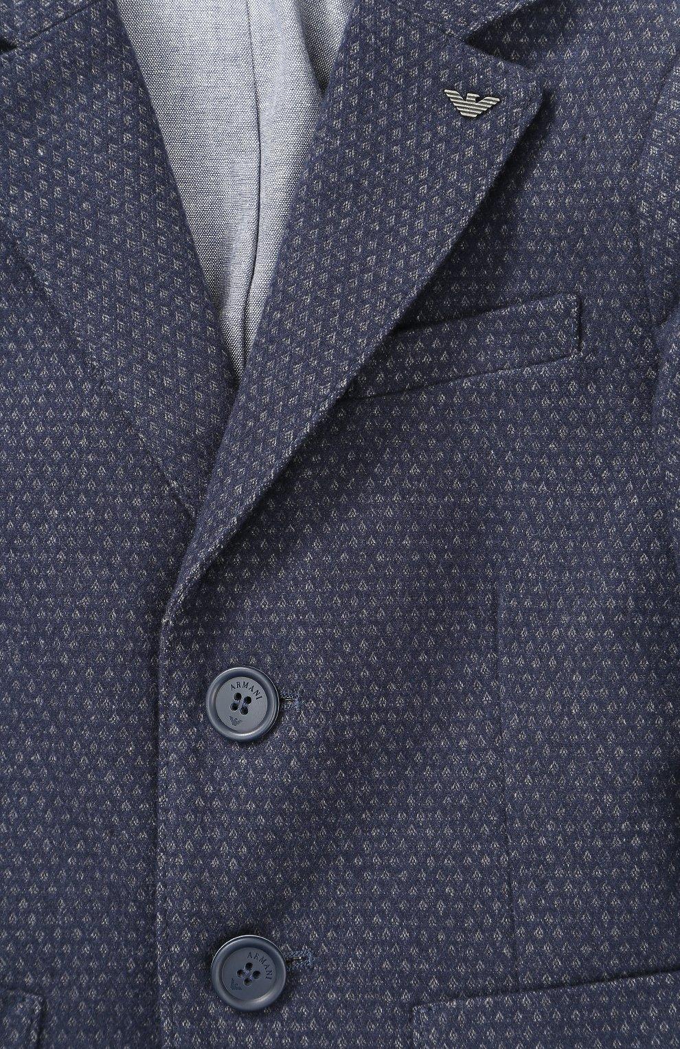 Однобортный пиджак из хлопка | Фото №3