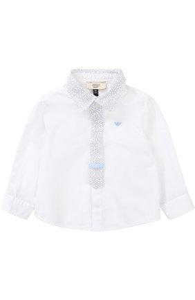 Хлопковая рубашка с контрастной отделкой   Фото №1