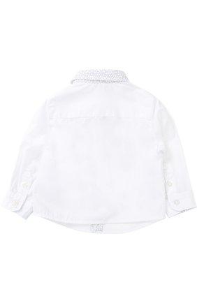 Хлопковая рубашка с контрастной отделкой   Фото №2