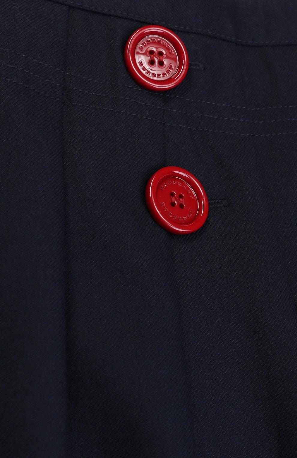 Юбка из шерсти со складками и декоративными пуговицами   Фото №3