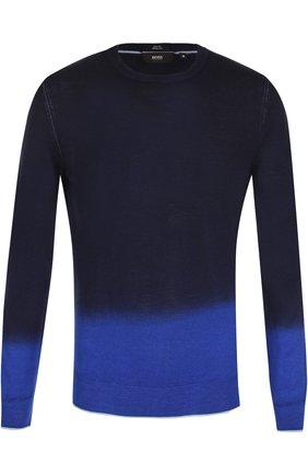 Джемпер из смеси шерсти и шелка с градиентным рисунком   Фото №1