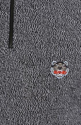 Шерстяной джемпер с круглым вырезом и нашивкой | Фото №5