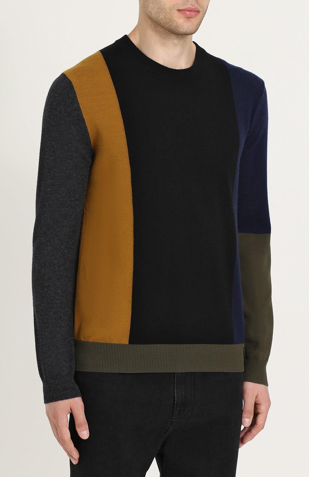 Джемпер из смеси хлопка и шерсти с кашемиром | Фото №3