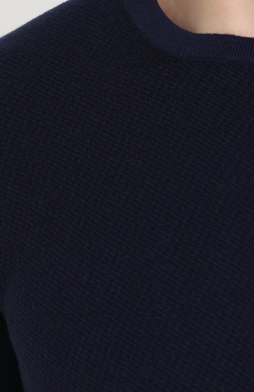 Шерстяной джемпер с круглым вырезом | Фото №5