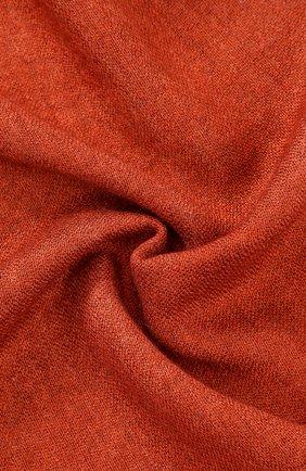 Мужской шарф из смеси кашемира и шелка с необработанным краем GIORGIO ARMANI оранжевого цвета, арт. 745209/7A115 | Фото 2