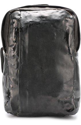 Кожаный рюкзак с потертостями