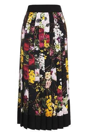 Плиссированная юбка-миди с принтом Dolce & Gabbana разноцветная   Фото №1