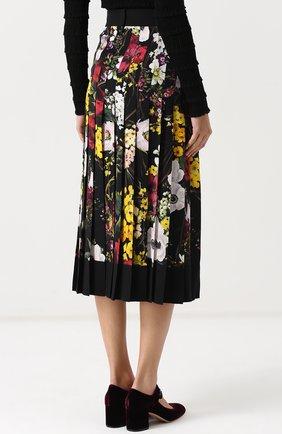 Плиссированная юбка-миди с принтом Dolce & Gabbana разноцветная   Фото №4