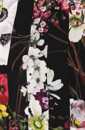 Плиссированная юбка-миди с принтом Dolce & Gabbana разноцветная   Фото №5