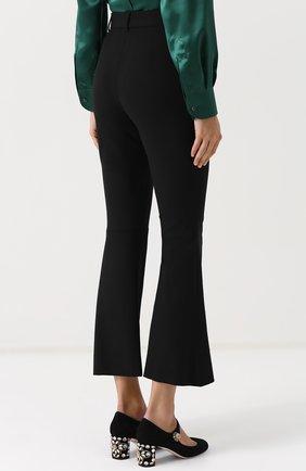 Укороченные расклешенные брюки Dolce & Gabbana черные | Фото №4