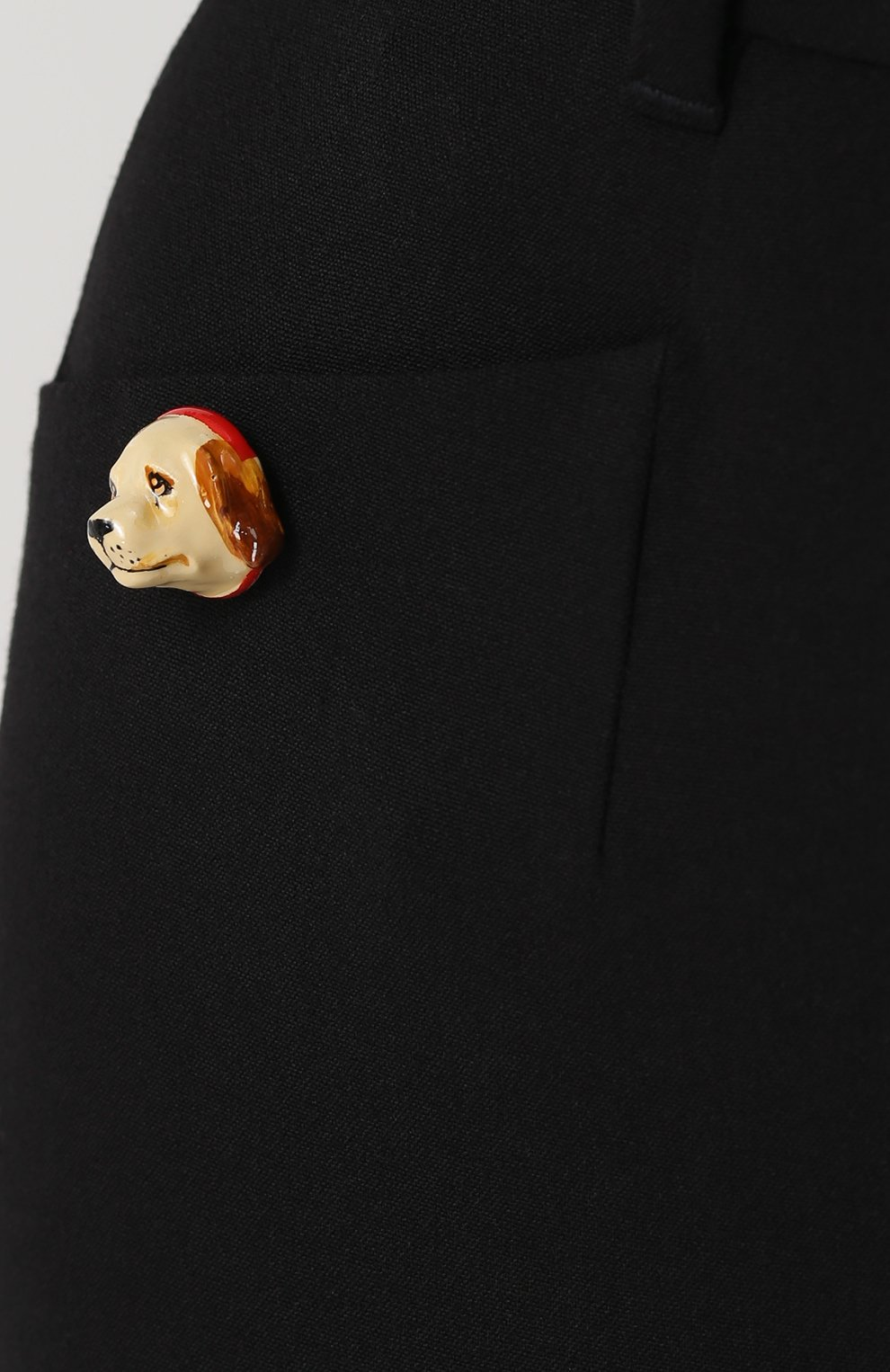 Укороченные расклешенные брюки Dolce & Gabbana черные | Фото №5