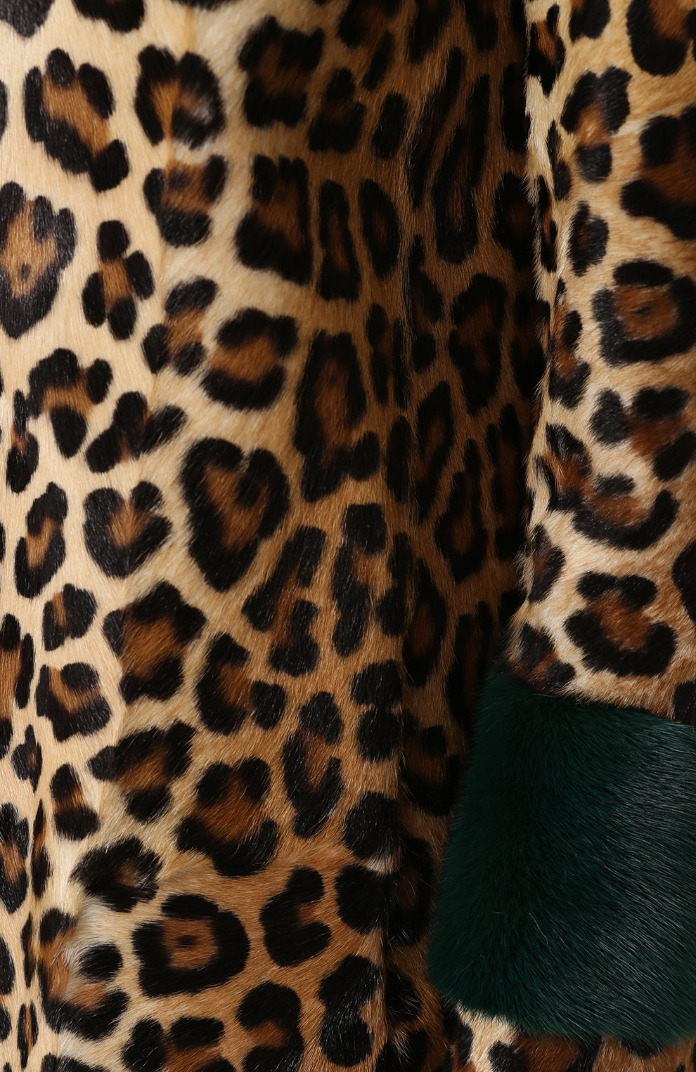 Шуба из меха норки и козлика с леопардовым принтом Simonetta Ravizza леопардовая   Фото №5